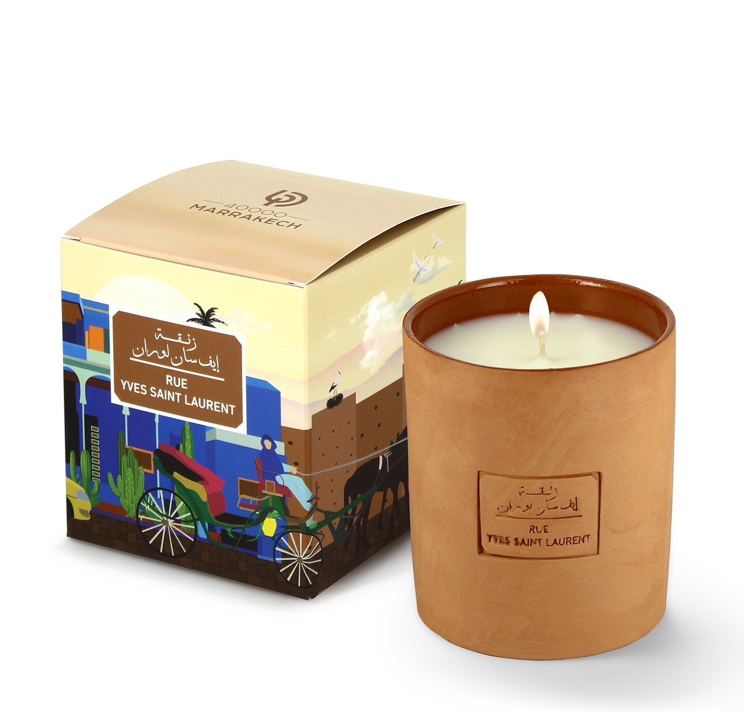 Scented candle 'Rue Yves Saint Laurent' Marrakech