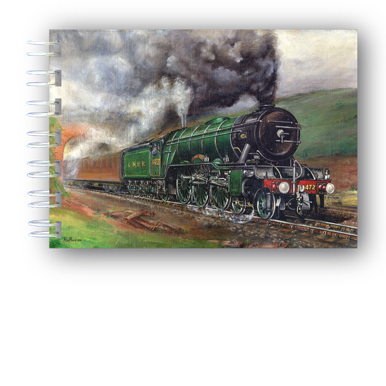 A6 Flying Scotsman Steam Train Notebook from Dormouse Cards