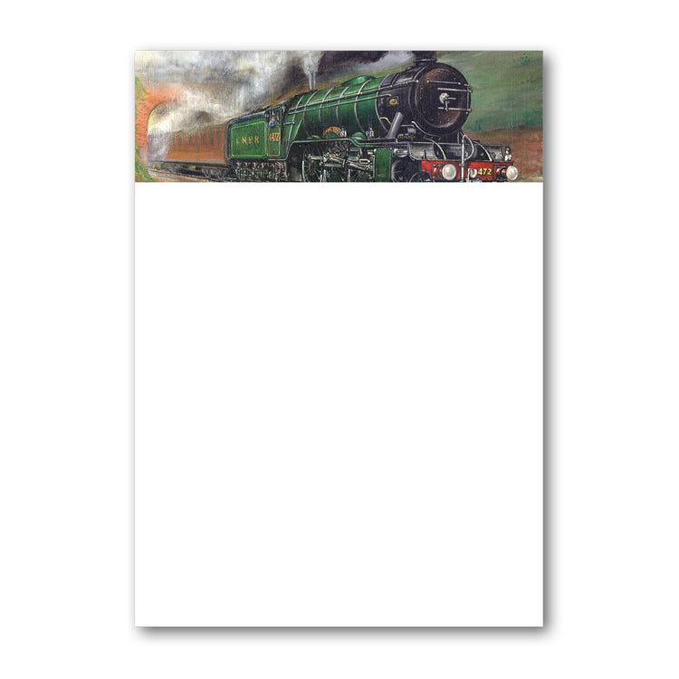 A5 Flying Scotsman Steam Train Notepaper from Dormouse Cards