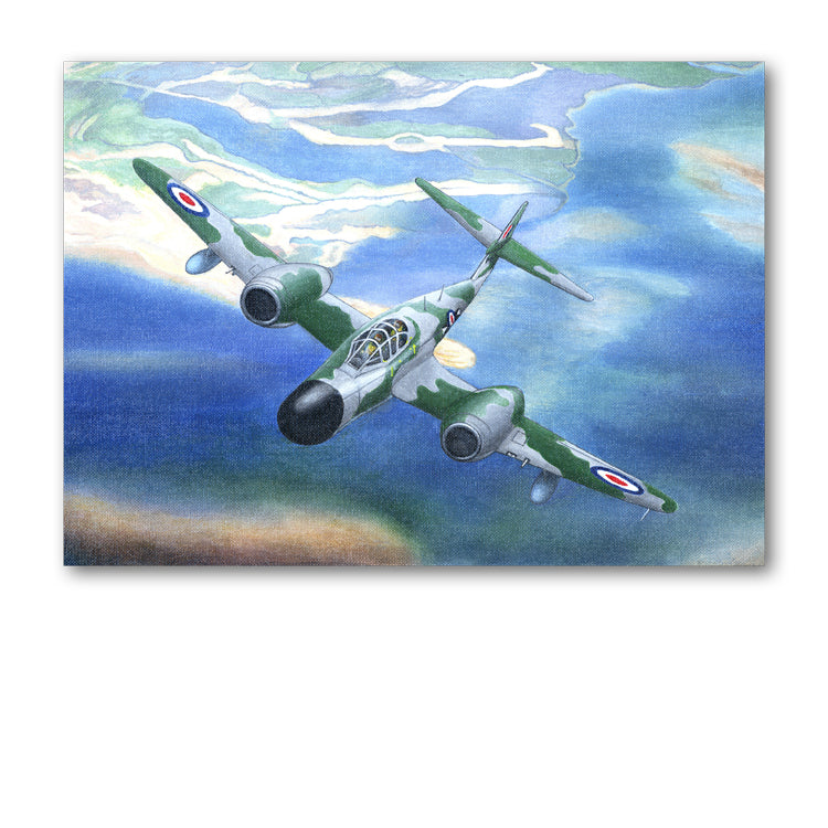 Gloster Meteor Birthday Card from Dormouse Cards