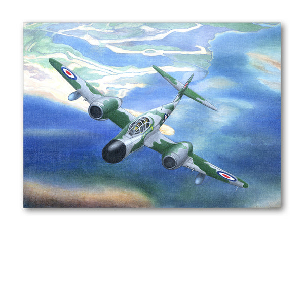 Gloster Meteor Greetings Card from Dormouse Cards