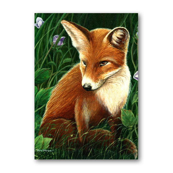 Pack of 10 Fox Gift Tags from a painting by Royden Price from Dormouse Cards
