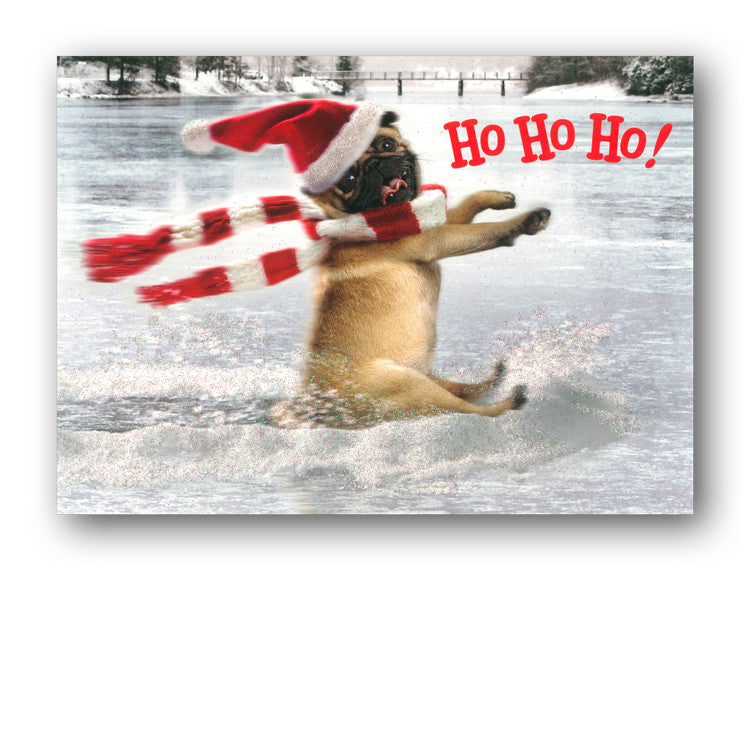 Funny Avanti Pug Christmas Card from Dormouse Cards