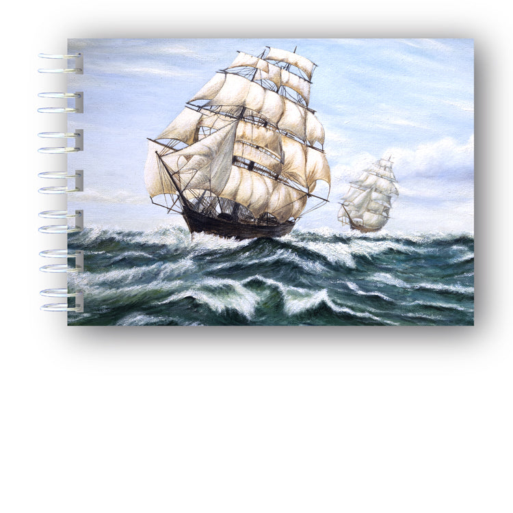 A6 Wire Bound Sailing Ship Notebook from Dormouse Cards