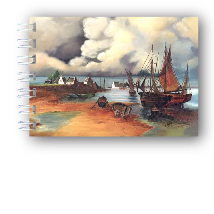 Seascape A6 Wire Bound Notebook from Dormouse Cards
