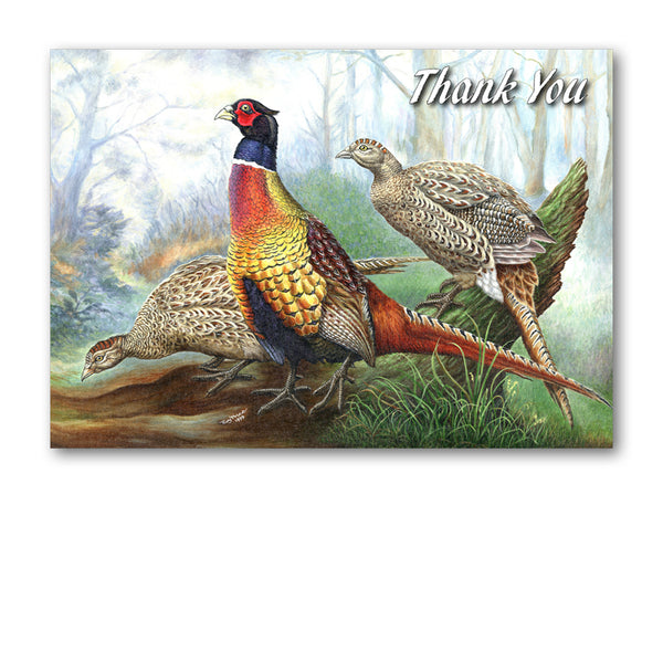 Pheasant Thank You Card from Dormouse Cards