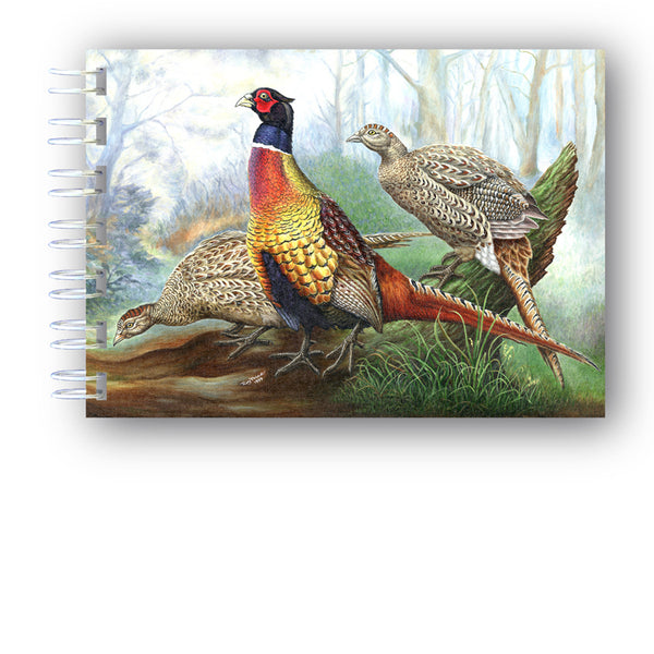 A6 Wire Bountd Pheasant Notebook from Dormouse Cards