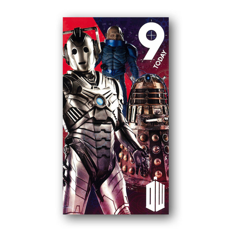 Dr Who Birthday Card 9 Today Dormouse Cards