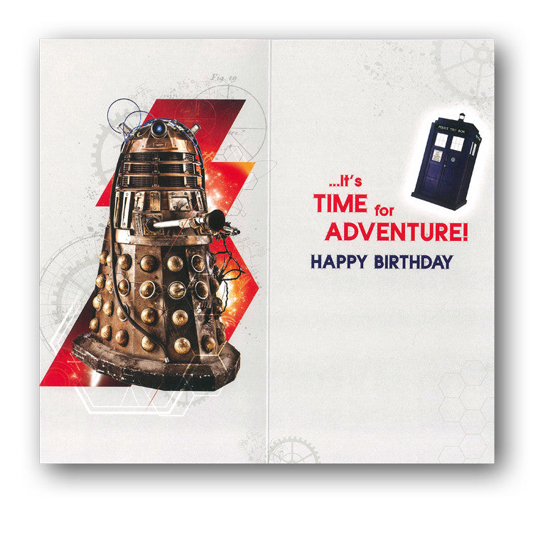 Dr Who 9th Birthday Card from Dormouse Cards