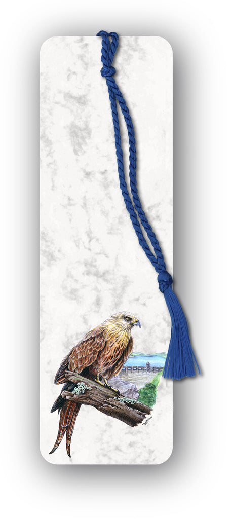 Red Kite at Elan Valley Bookmark on Marble Board from Dormouse Cards