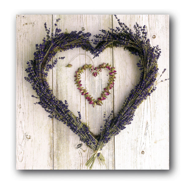 Valentine's Day Card - Lavendar Heart from Dormouse Cards