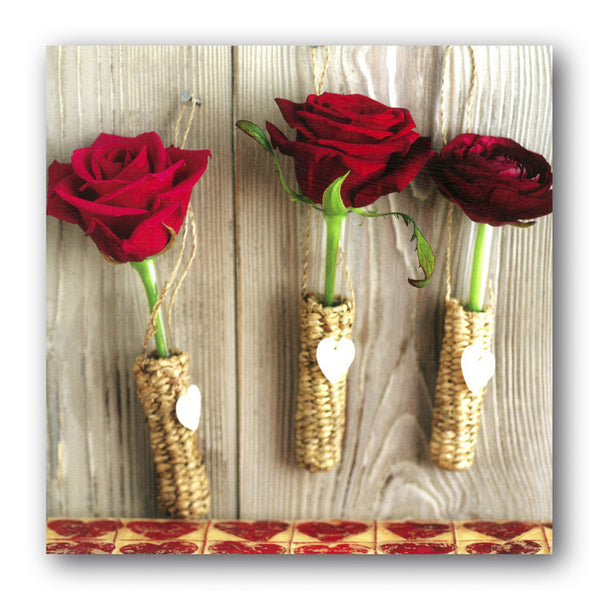 Valentine's Day Card - Red Roses from Dormouse Cards