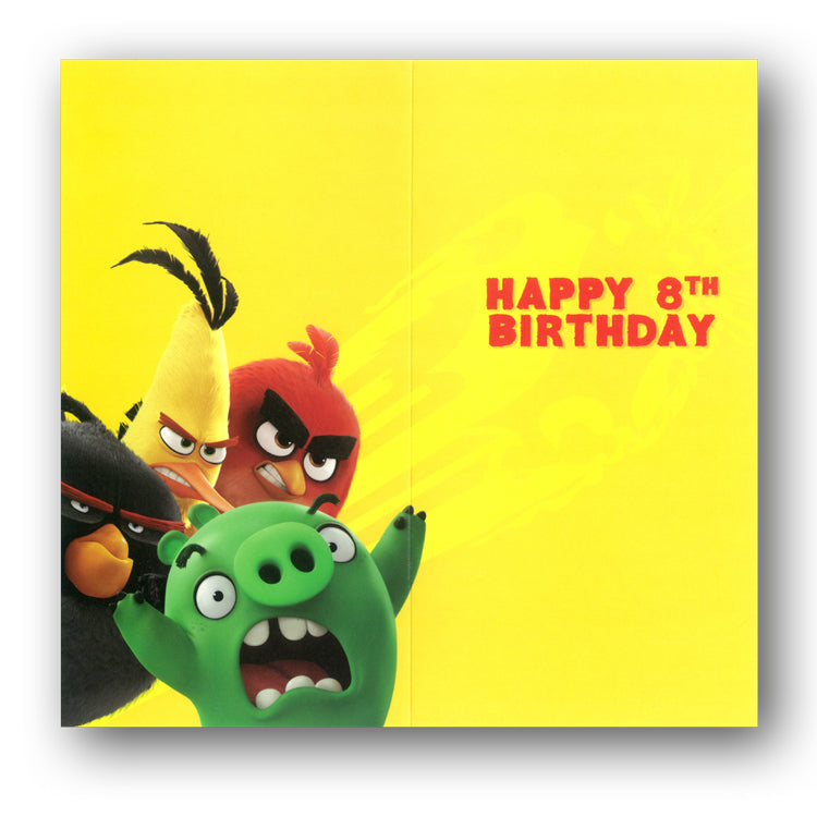 Angry Birds 8th Birthday Card from Dormouse Cards