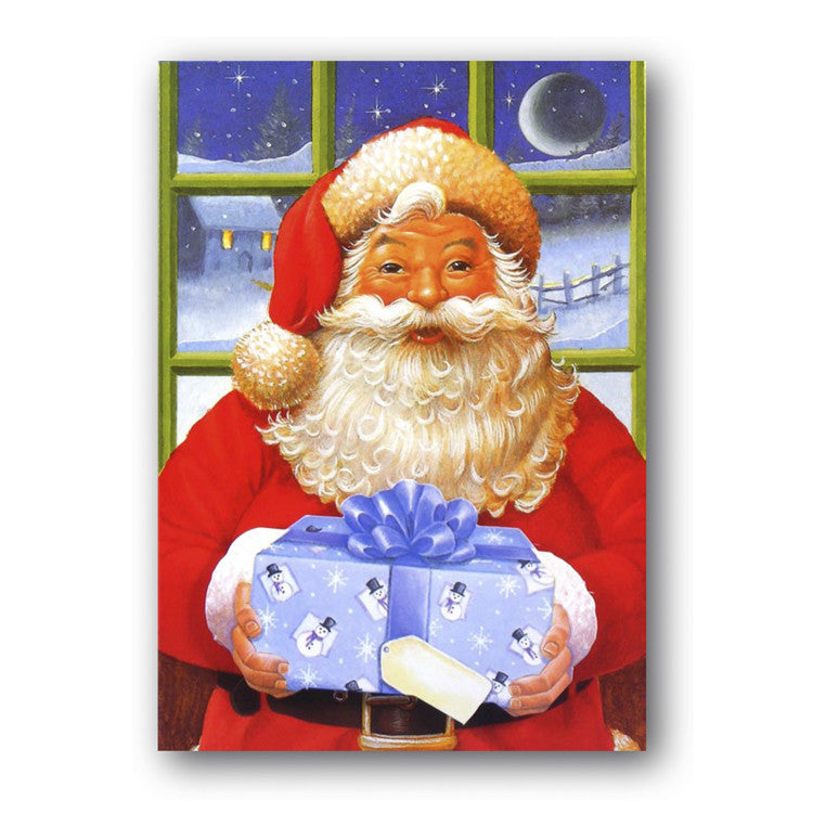 Courtier Christmas Card - Santa with Present from Dormouse Cards