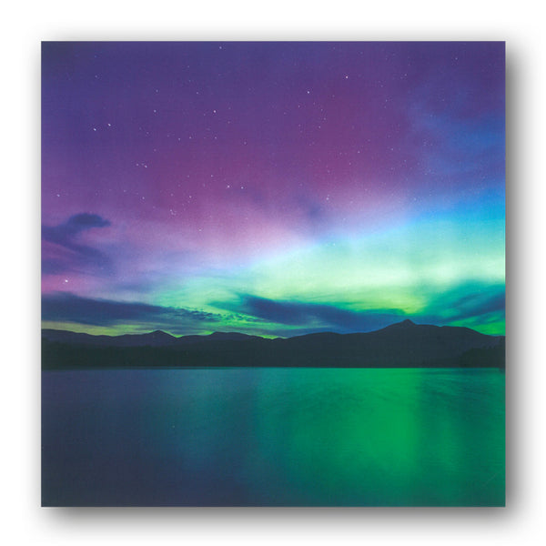 Northern Lights over Chocorua Lake and Mount Chocorua New Hampshire USA Greetings Birthday Card from Dormouse Cards