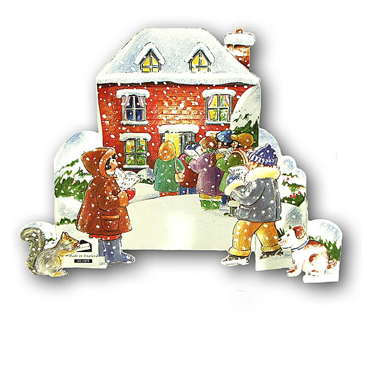 3D Courtier Christmas Card Carol Singers from Dormouse Cards