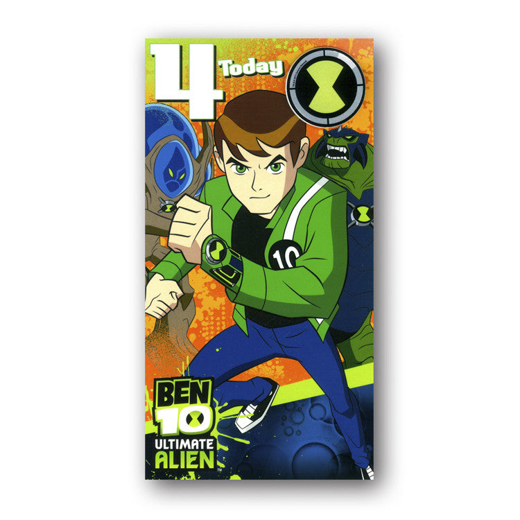 Ben 10 Birthday Card - 4th Birthday from Dormouse Cards