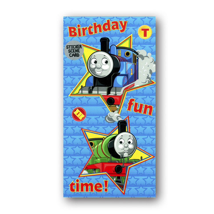Thomas & Friends - Sticker Scene Birthday Card from Dormouse Cards