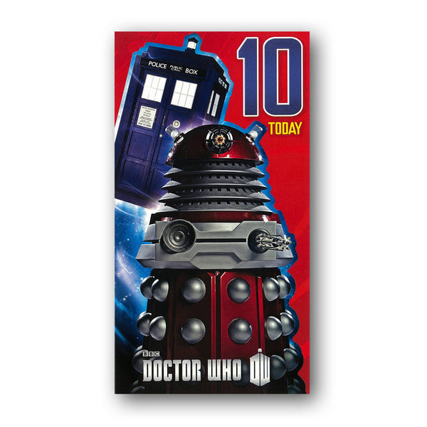 Dr Who 10th Birthday Card