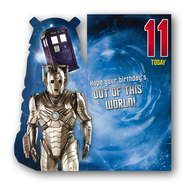 Dr Who 11th Birthday Card from Dormouse Cards