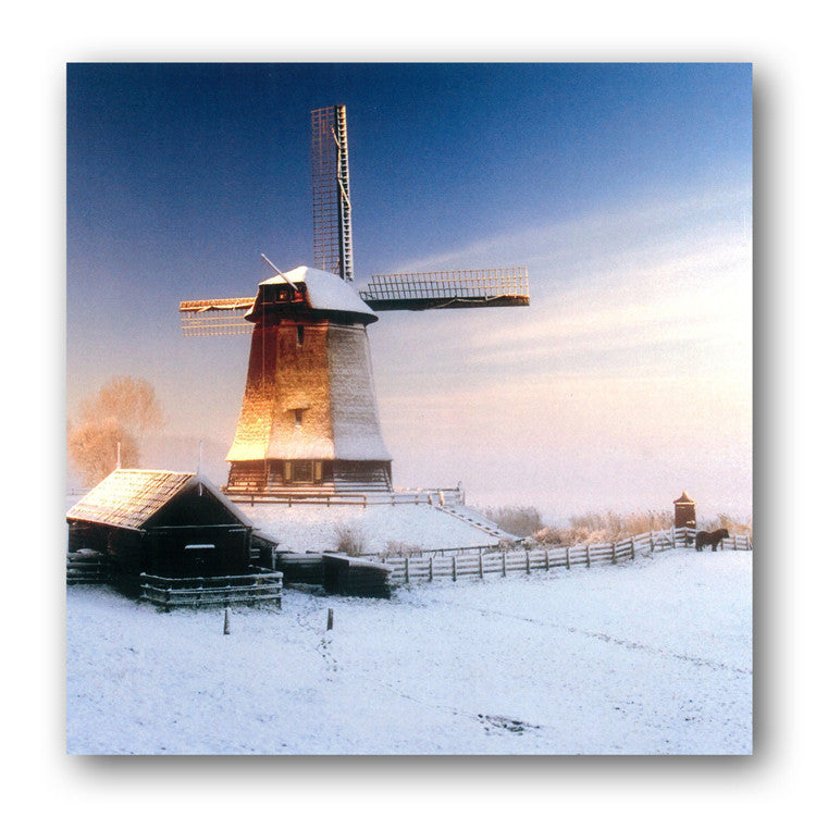 Winter Windmill Christmas Card from Dormouse Cards