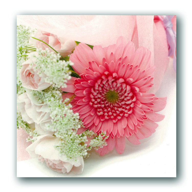 Pink Gerbera Greetings Card from Dormouse Cards