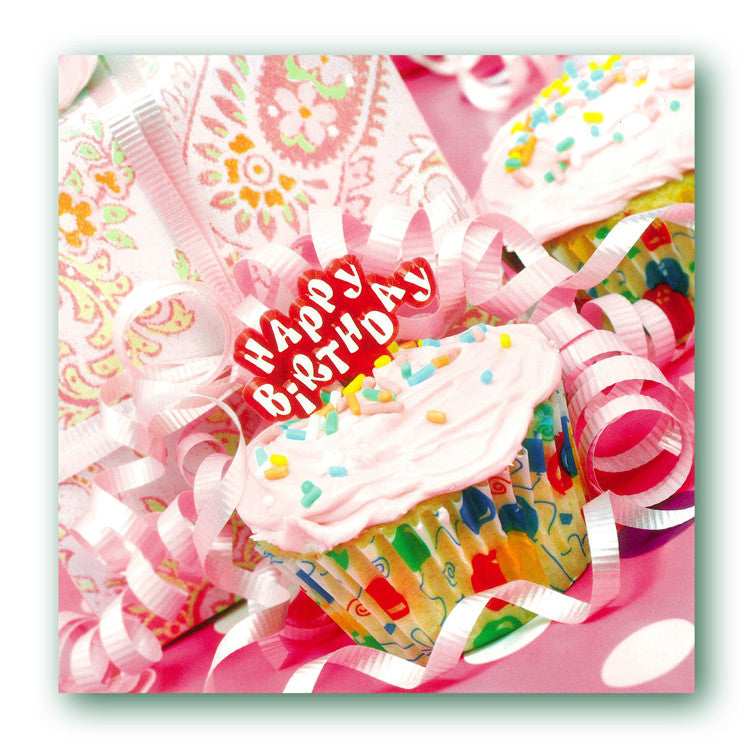 Cup Cake Birthday Card from Dormouse Cards