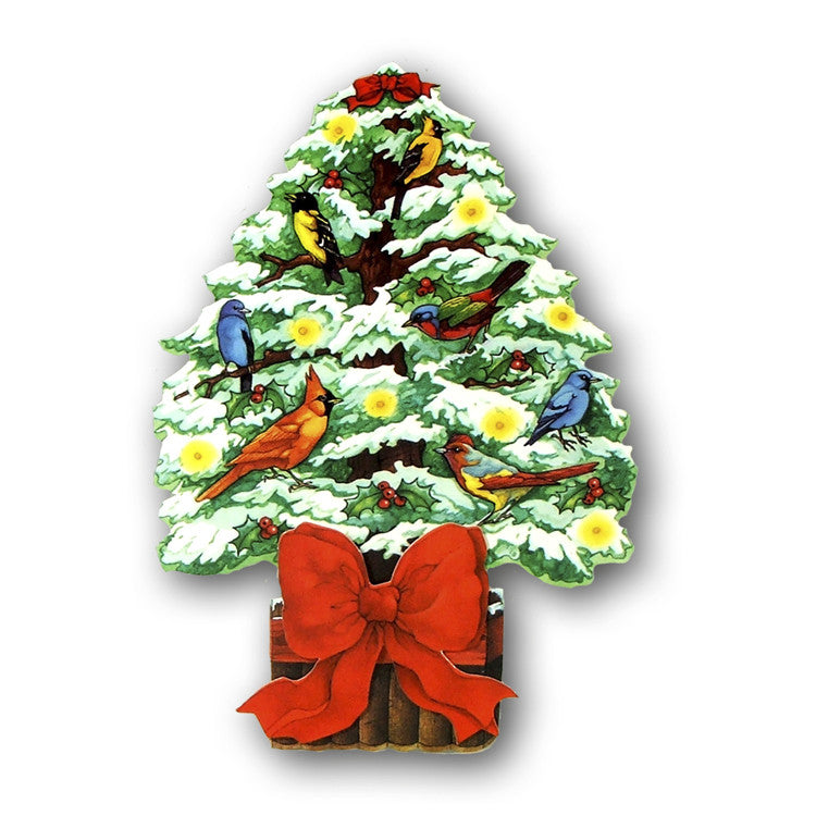 Courtier 3D Effect Christmas Card - Topiary Tree from Dormouse Cards