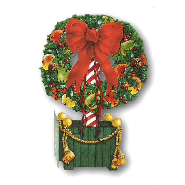 3D Effect Courtier Christmas Cards - Topiary Christmas Card from Dormouse Cards