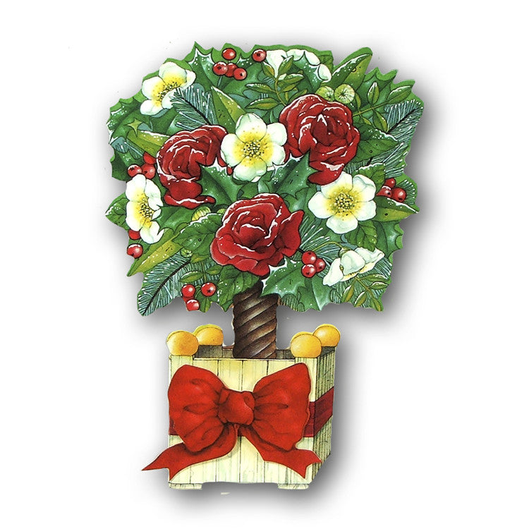 3D Courtier Christmas Card - Topiary Christmas Tree from Dormouse Cards