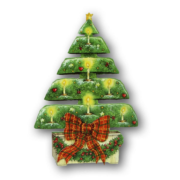 3D Effect Courtier Christmas Card - Topiary Christmas Tree from Dormouse Cards