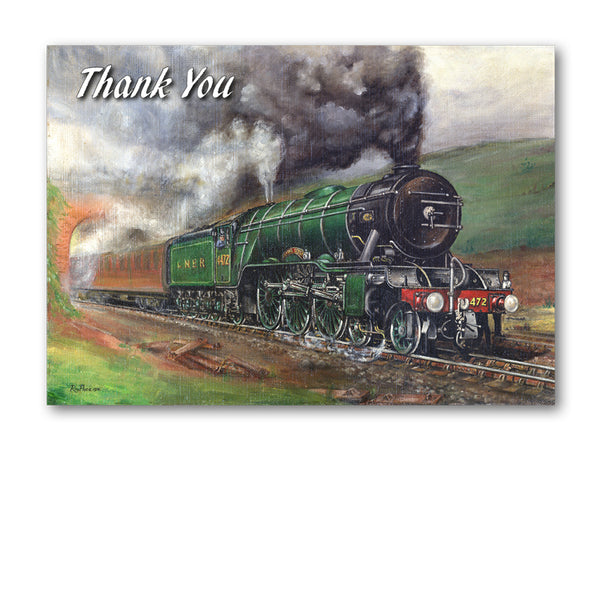 Flying Scotsman Steam Train Thank You Card from Dormouse Cards