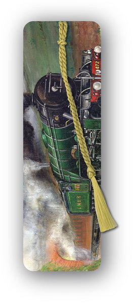 Flying Scotsman Steam Train Bookmark from Dormouse Cards
