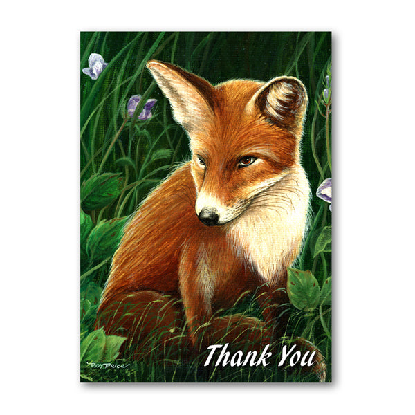Fox Thank You Card from Dormouse Cards
