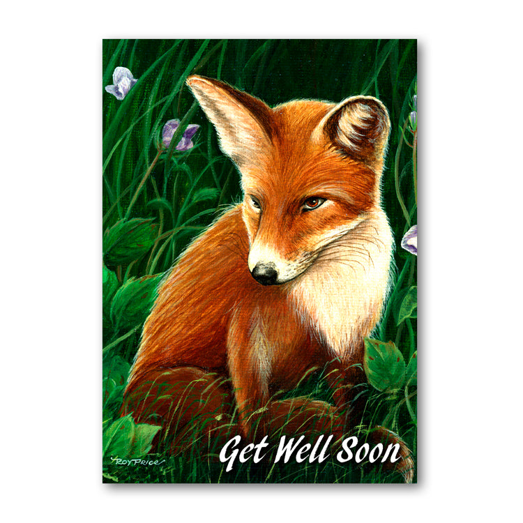 Fox Get Well Soon Card from Dormouse Cards