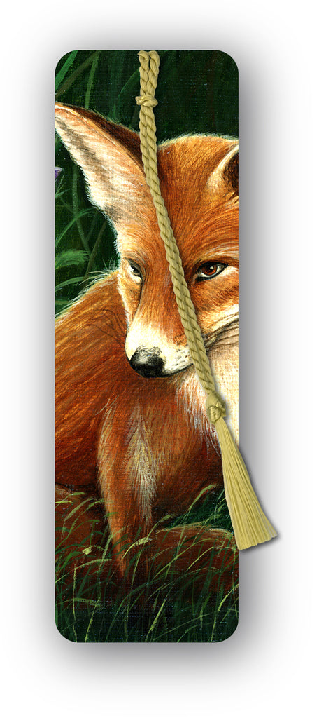 Fox Bookmark from a painting by Royden Price from Dormouse Cards