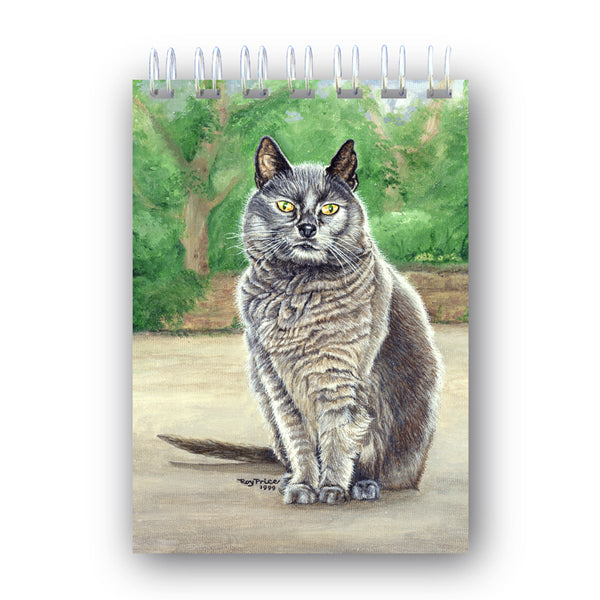 Suzy the Grey Cat Notebook from Dormouse Cards