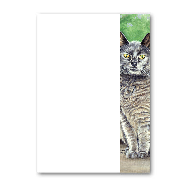 Suzy the Grey Cat A5 Notepaper from Dormouse Cards