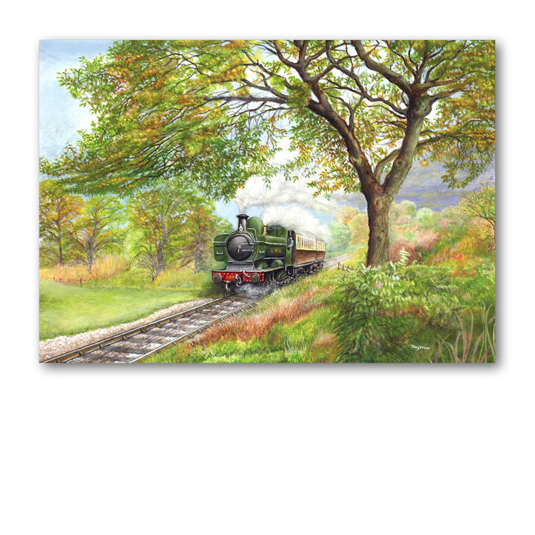 GWR Pannier Steam Train Greetings Card from Dormouse Cards