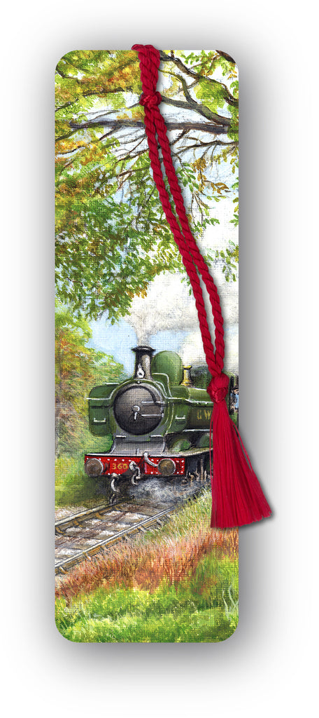 GWR Pannier Steam Train Bookmark from Dormouse Cards