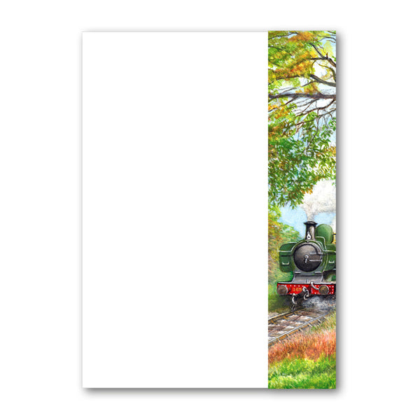 A5 GWR Pannier Steam Train Notepaper from Dormouse Cards