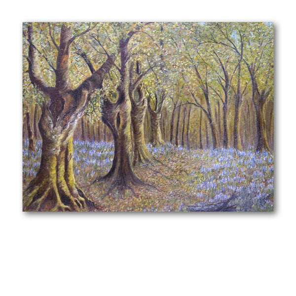 Bluebell Wood Greetings Card from Dormouse Cards