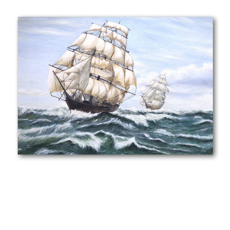 Pack of 10 Sailing Ship Gift Tags from Dormouse Cards