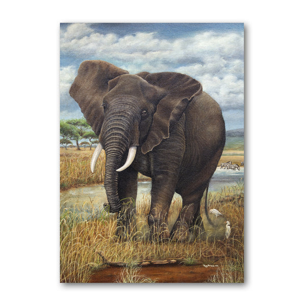 Elephant Birthday Card from a painting by Royden Price from Dormouse Cards