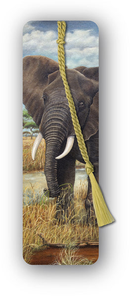 Elephant Bookmark from a painting by Royden Price from Dormouse Cards