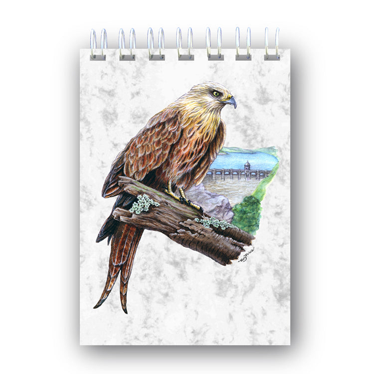 A6 Wire Bound Red Kite Notebook from Dormouse Cards