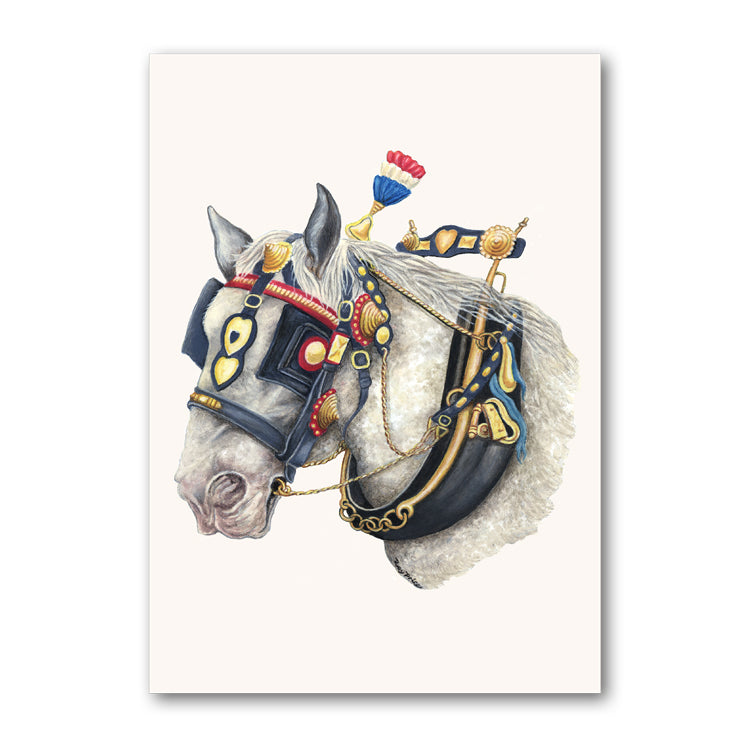 Shire Horse Greetings Card