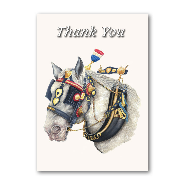Shire Horse Thank You Card from Dormouse Cards