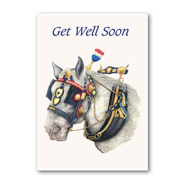 Shire Horse Get Well Soon Card from Dormouse Cards