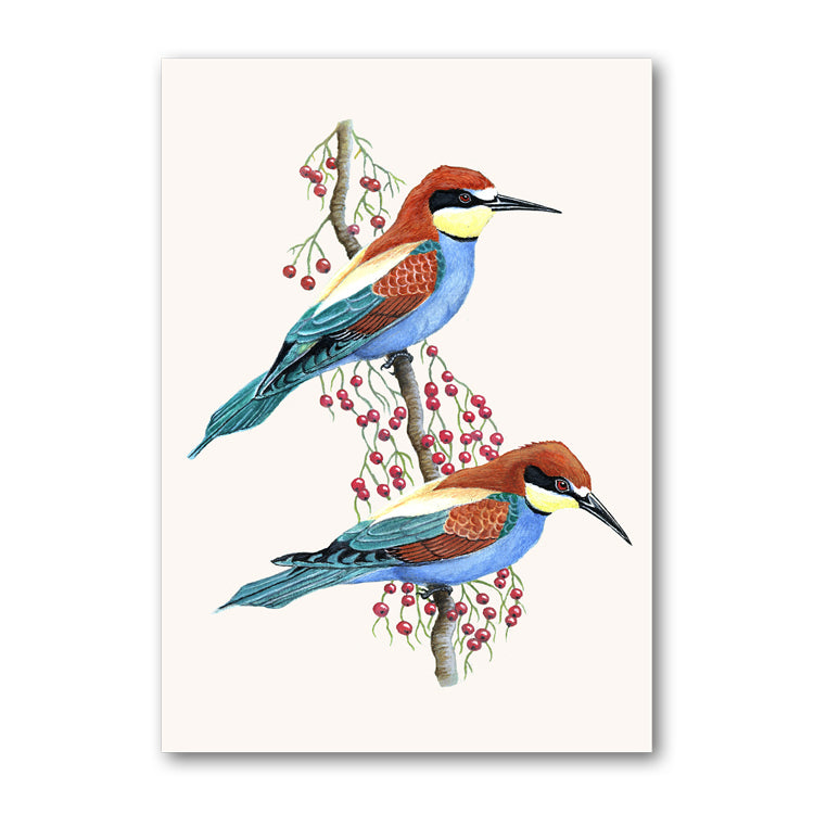 European Bee-Eaters Birthday Card
